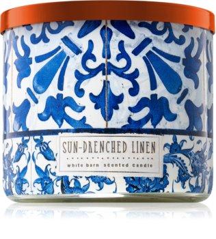 Bath & Body Works Sun-Drenched Linen vonná sviečka 411 g