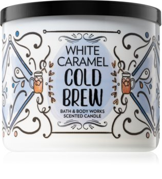 Bath & Body Works White Caramel Cold Brew bougie parfumée 411 g