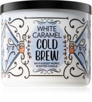 Bath & Body Works White Caramel Cold Brew vonná svíčka 411 g