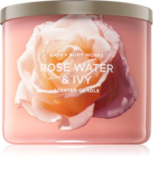 Bath & Body Works Rose Water & Ivy ароматизована свічка  ІІ 411 гр