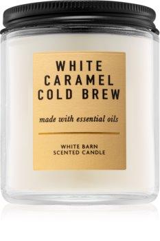 Bath & Body Works White Caramel Cold Brew bougie parfumée I. 198 g