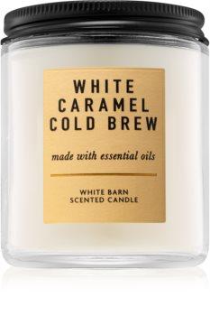 Bath & Body Works White Caramel Cold Brew Duftkerze  198 g I.
