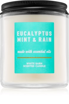 Bath & Body Works Eucalyptus Mint & Rain scented candle