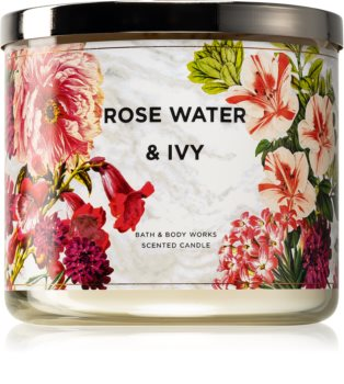 Bath & Body Works Rose Water & Ivy vonná svíčka IV. 411 g