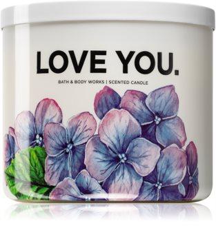 Bath & Body Works Fresh Cut Lilacs vonná svíčka (Love You) 411 g