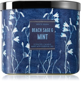 Bath & Body Works Beach Sage & Mint scented candle 411 g