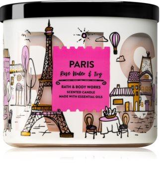 Bath & Body Works Rose Water & Ivy vonná svíčka III. (Paris) 411 g