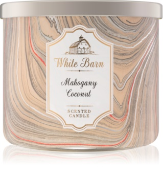 Bath & Body Works White Barn Mahogany Coconut vonná sviečka   I.