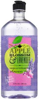 Bath & Body Works Apple Blossom & Lavender sprchový gel pro ženy 295 ml