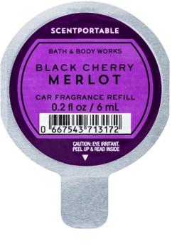 Bath & Body Works Black Cherry Merlot Auto luchtverfrisser  6 ml Vervangende Vulling