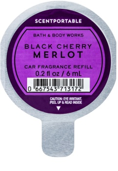 Bath & Body Works Black Cherry Merlot vôňa do auta 6 ml náhradná náplň