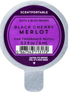 Bath & Body Works Black Cherry Merlot vůně do auta 6 ml náhradní náplň