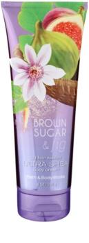 Bath & Body Works Brown Sugar and Fig tělový krém pro ženy 236 ml