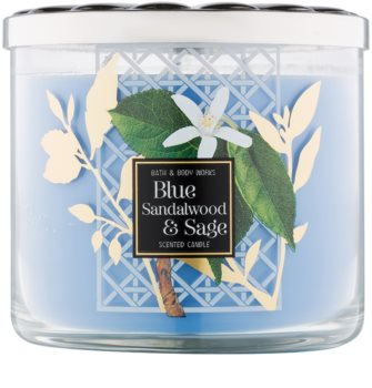 Bath & Body Works Blue Sandalwood & Sage vonná svíčka 411 g