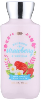 Bath & Body Works Bourbon Strawberry & Vanilla tělové mléko pro ženy 236 ml
