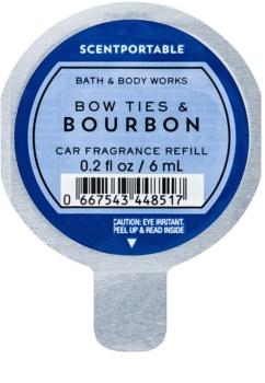 Bath & Body Works Bow Ties & Bourbon odświeżacz do samochodu 6 ml napełnienie