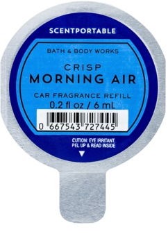Bath & Body Works Crisp Morning Air ambientador auto 6 ml recarga de substituição