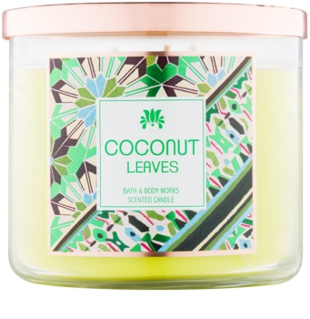 Bath & Body Works Coconut Leaves illatos gyertya  411 g