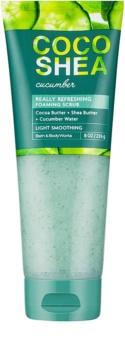 Bath & Body Works Cocoshea Cucumber exfoliant de corp pentru femei 226 g