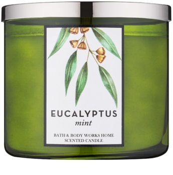 Bath & Body Works Eucalyptus Mint vonná svíčka 411 g