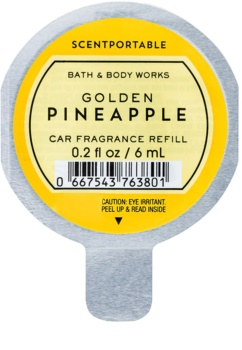 Bath & Body Works Golden Pineapple parfum pentru masina 6 ml Refil