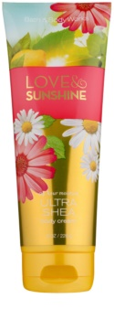 Bath & Body Works Love and Sunshine crema corpo per donna 226 g