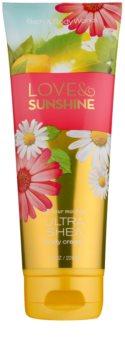 Bath & Body Works Love and Sunshine crema de corp pentru femei 226 g
