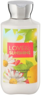 Bath & Body Works Love and Sunshine telové mlieko pre ženy 236 ml