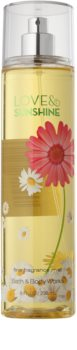 Bath & Body Works Love and Sunshine spray corporal para mujer 236 ml