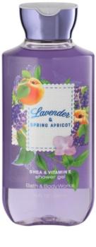 Bath & Body Works Lavander & Spring Apricot sprchový gel pro ženy 295 ml