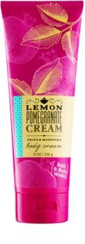 Bath & Body Works Lemon Pomegranate tělový krém pro ženy 226 g