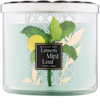 Bath & Body Works Lemon Mint Leaf vonná svíčka 411 g