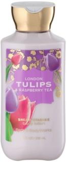 Bath & Body Works London Tulips & Raspberry Tea leite corporal para mulheres 236 ml