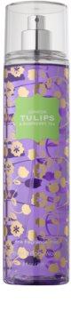 Bath & Body Works London Tulips & Raspberry Tea tělový sprej pro ženy 236 ml