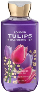 Bath & Body Works London Tulips & Raspberry Tea Douchegel voor Vrouwen  295 ml