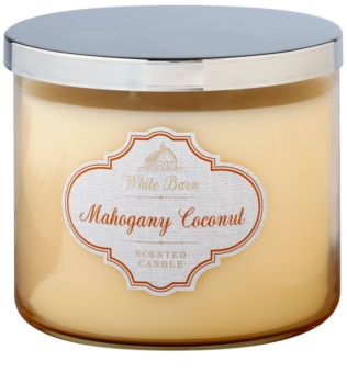 Bath & Body Works White Barn Mahogany Coconut Duftkerze  411 g
