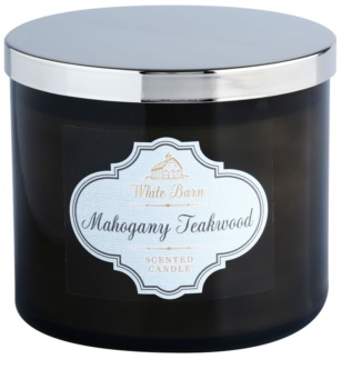 Bath & Body Works White Barn Mahogany Teakwood vela perfumada  411 g