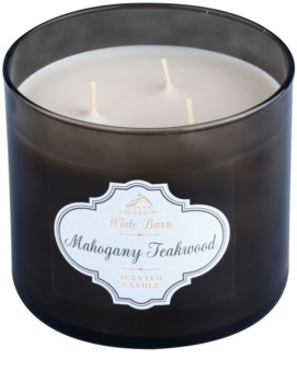 Bath & Body Works White Barn Mahogany Teakwood Duftkerze  411 g