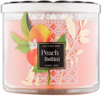 Bath & Body Works Peach Bellini vonná svíčka 411 g