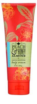 Bath & Body Works Peach & Honey Almond telový krém pre ženy 226 g