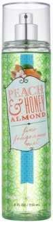 Bath & Body Works Peach & Honey Almond tělový sprej pro ženy 236 ml