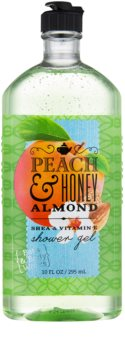 Bath & Body Works Peach & Honey Almond gel de duche para mulheres 295 ml