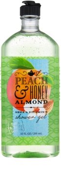 Bath & Body Works Peach & Honey Almond sprchový gél pre ženy 295 ml