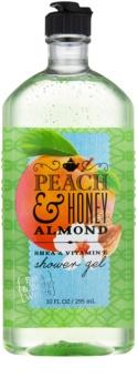 Bath & Body Works Peach & Honey Almond sprchový gel pro ženy 295 ml