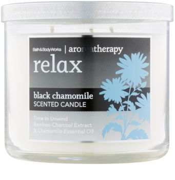 Bath & Body Works Relax Black Chamomile vonná svíčka 411 g