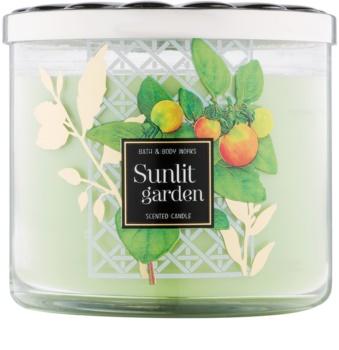 Bath & Body Works Sunlit Garden candela profumata 411 g