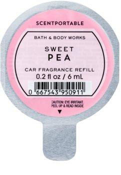 Bath & Body Works Sweet Pea Auto luchtverfrisser  6 ml Vervangende Vulling