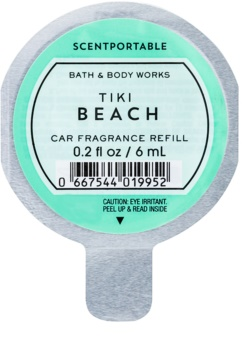 Bath & Body Works Tiki Beach parfum pentru masina 6 ml Refil