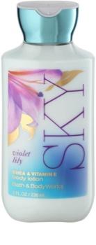 Bath & Body Works Violet Lily Sky telové mlieko pre ženy 236 ml