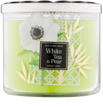 Bath & Body Works White Tea & Pear vonná svíčka 411 g